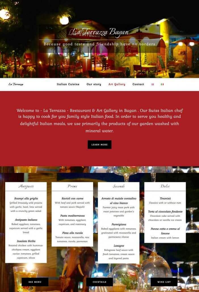 page d'accueil la terrazza bagan