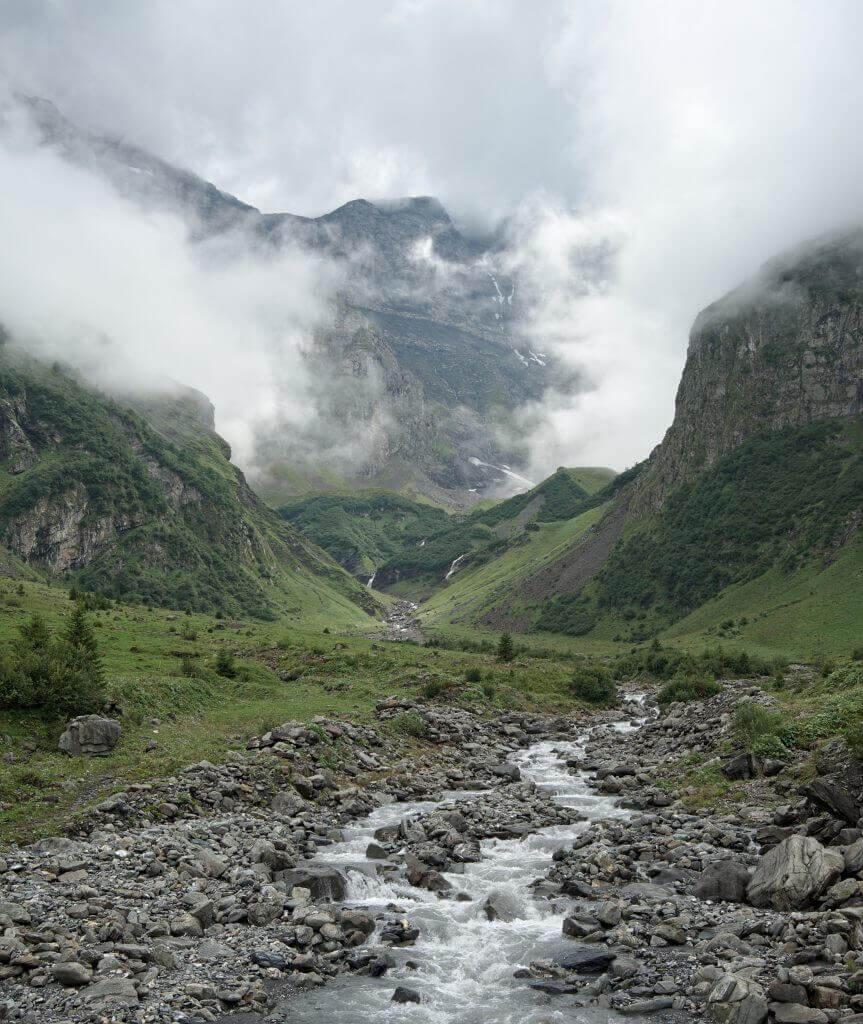 fond de la vallée de Linthal
