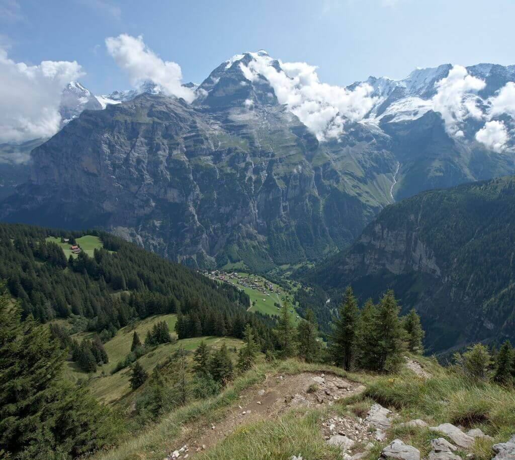 Jungfrau au-dessus de Mürren