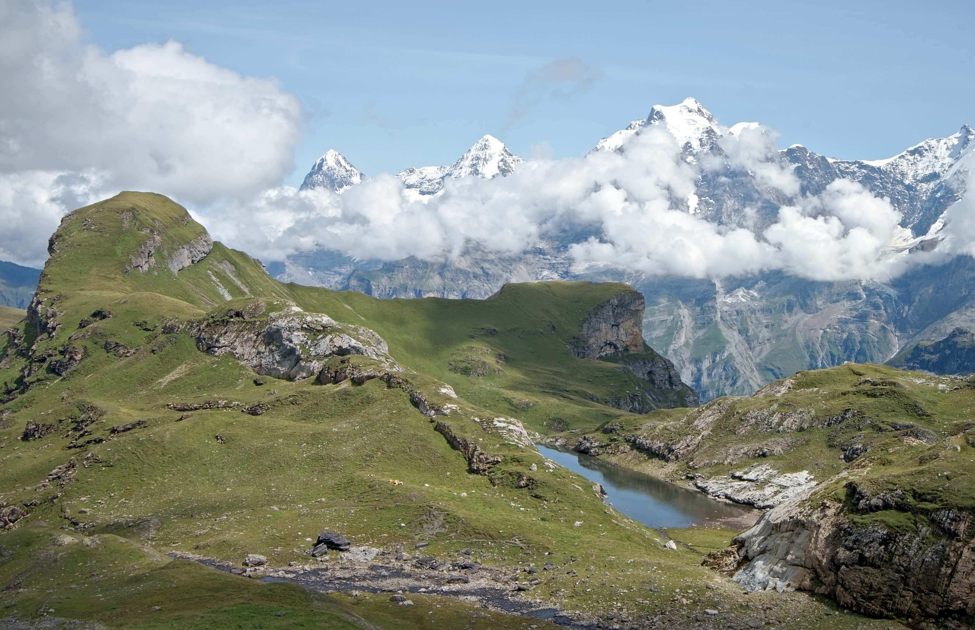 Eiger Mönch et Jungfrau depuis Sefinenfurgge