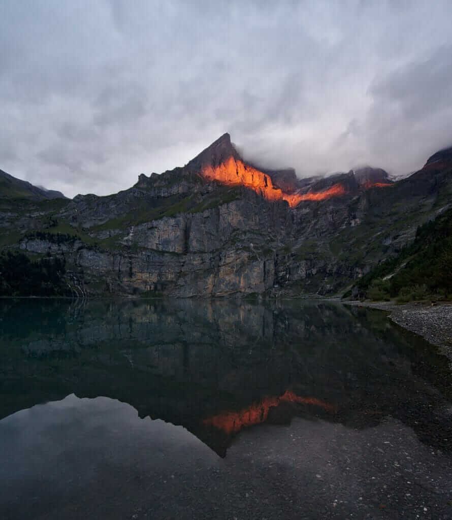 sunset oeschinen