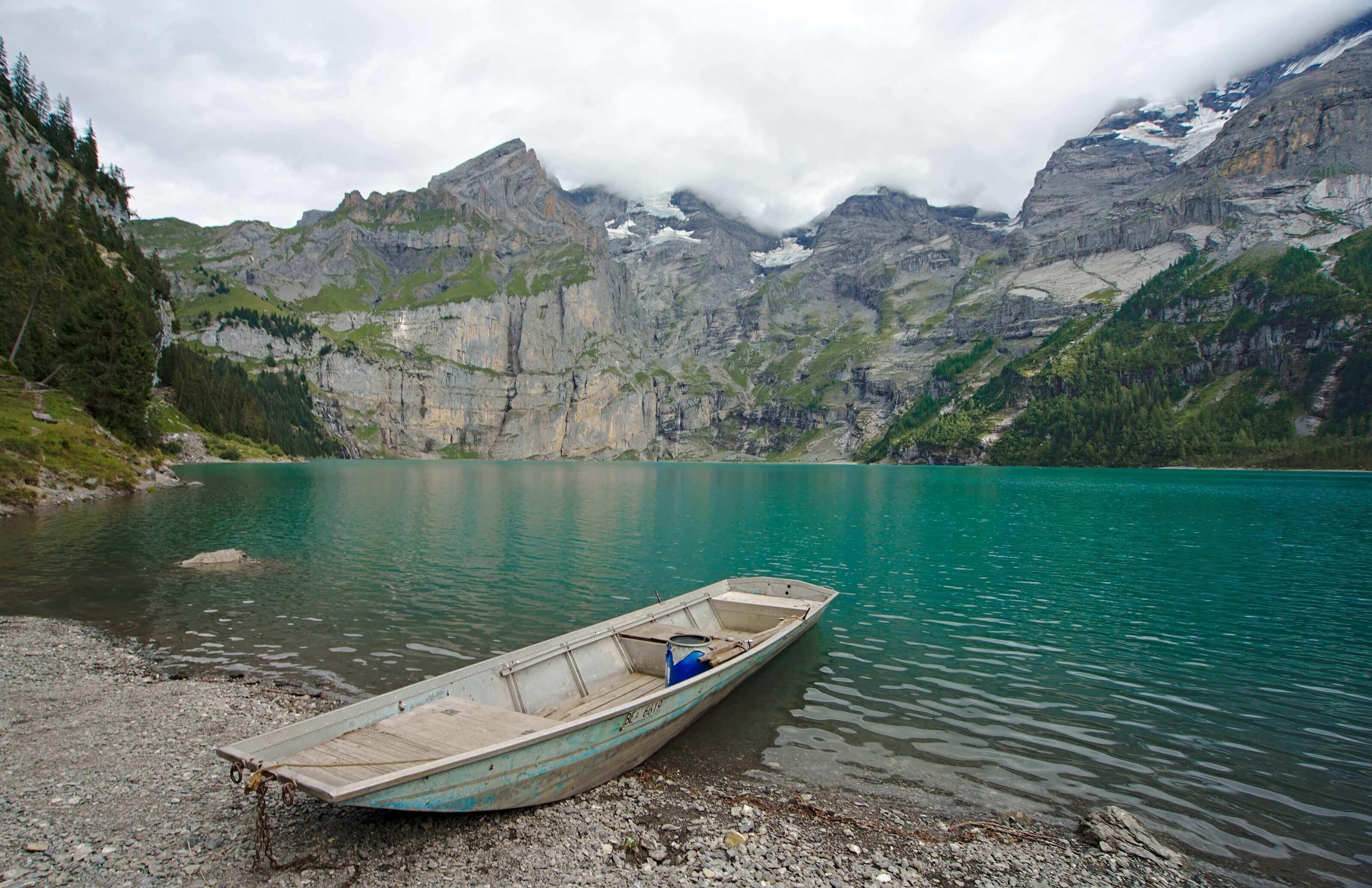 lac d'oeschienen, suisse