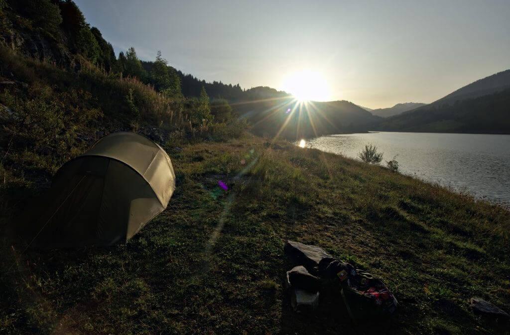bivouac lac de Hongrin