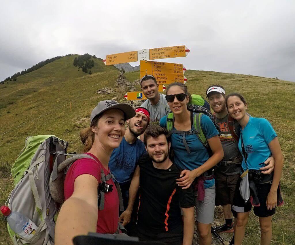 randonnée via alpina entre amis