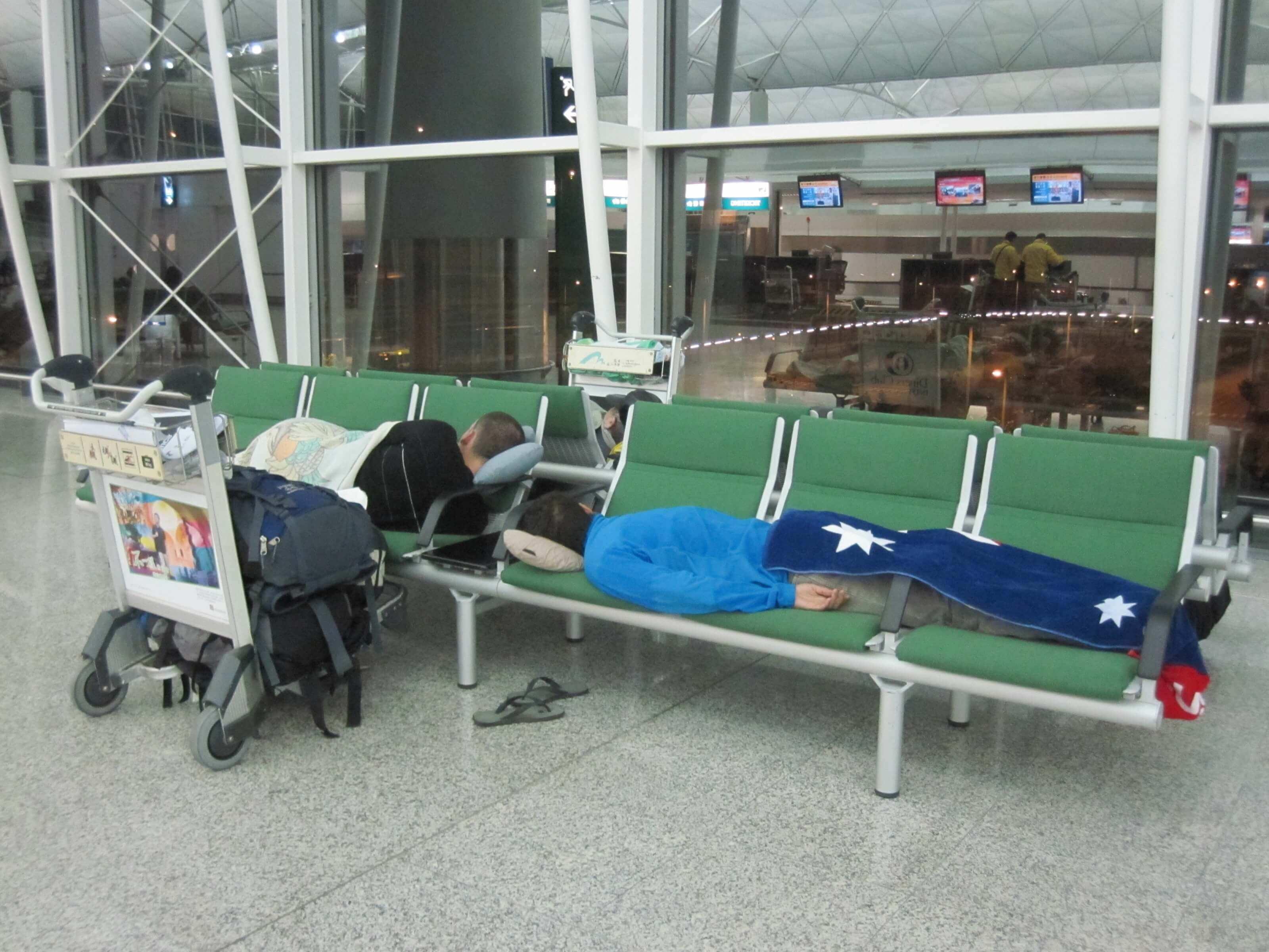 dormir à l'aéroport