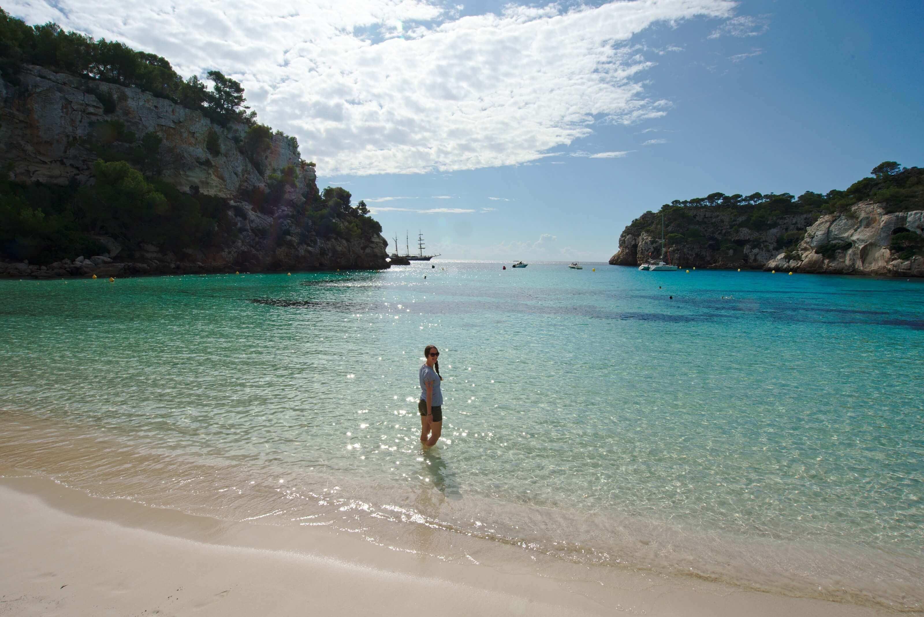 plage Cala Macarella - Minorque