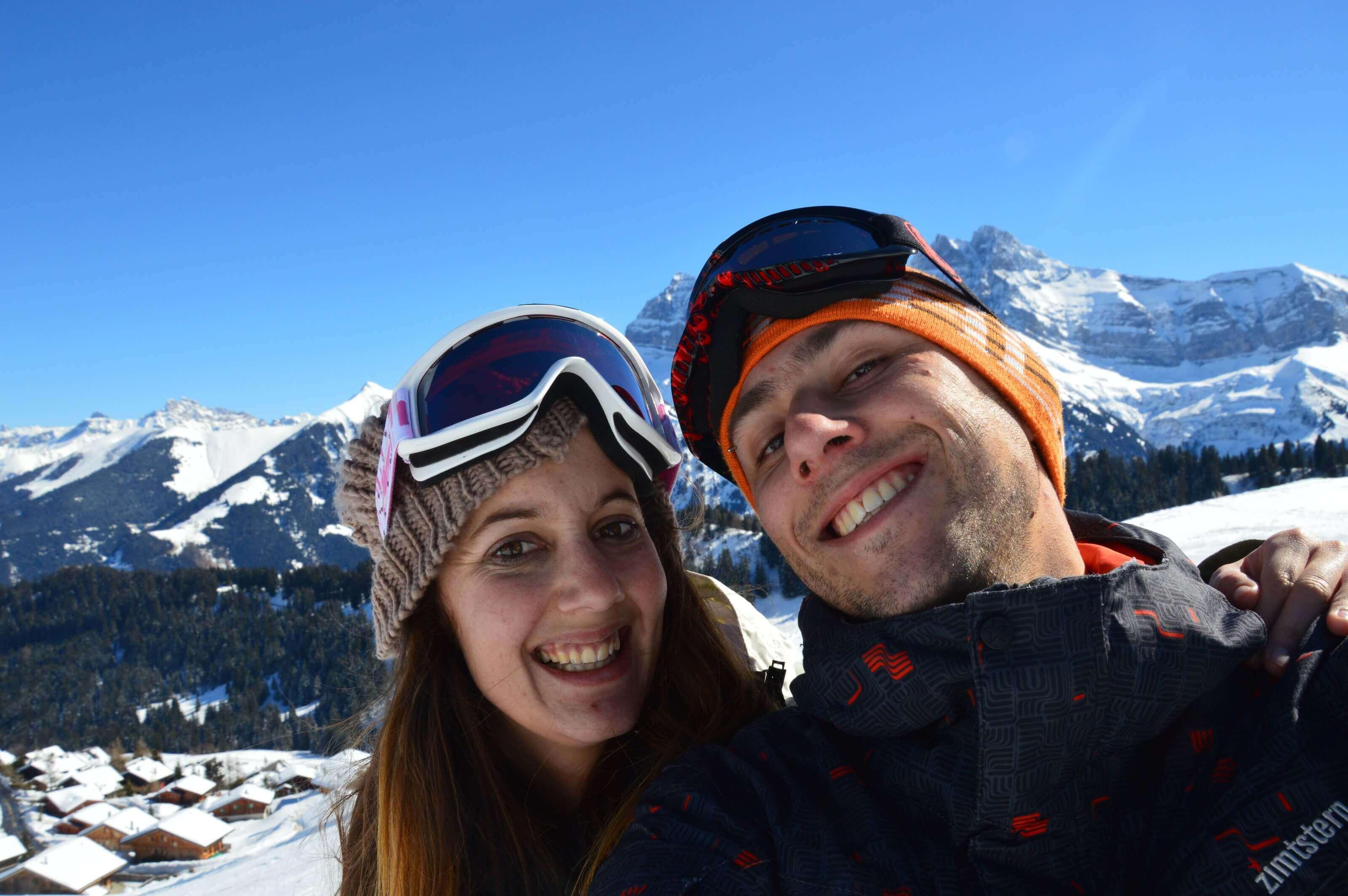 selfie ski