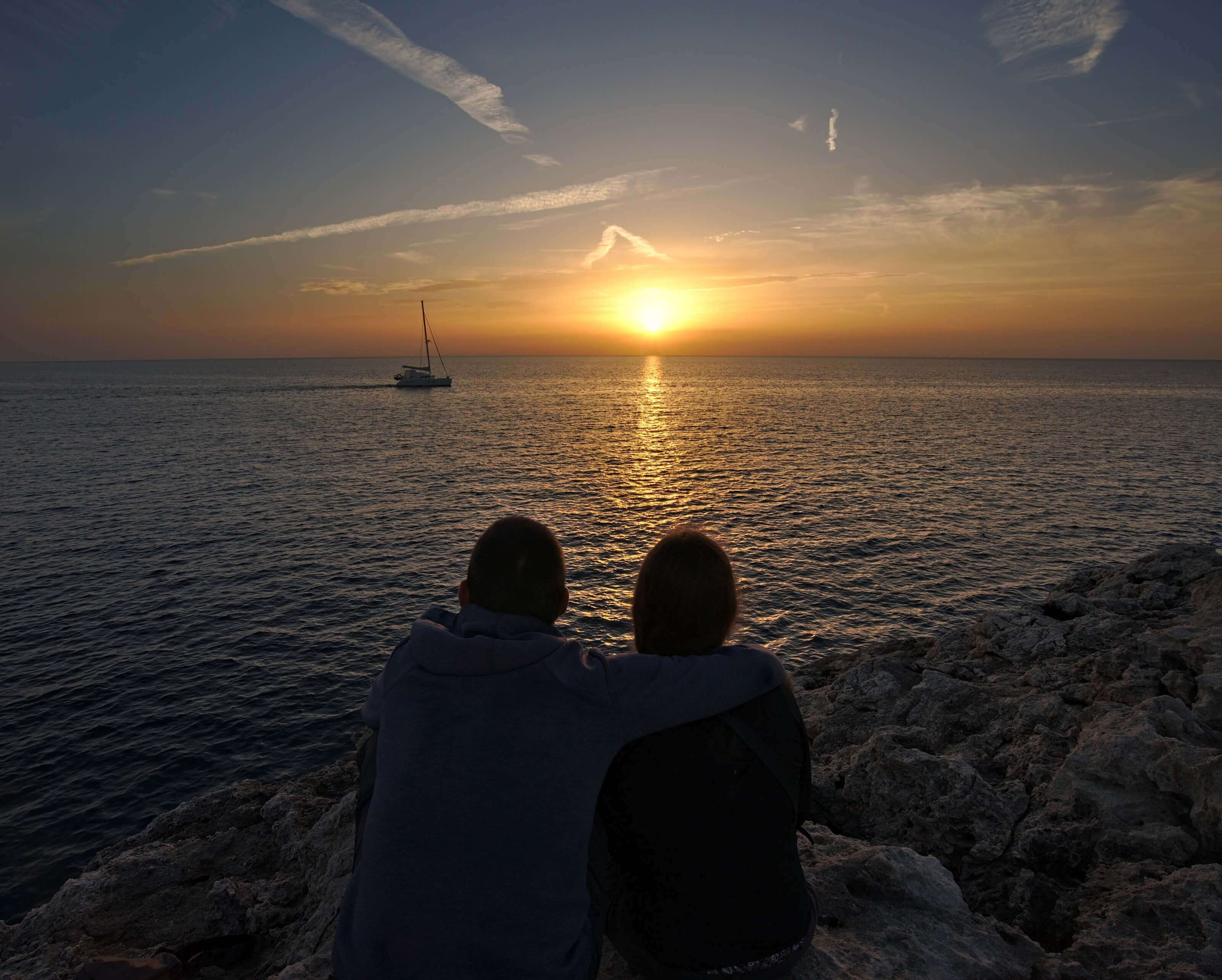 coucher de soleil cala blanca