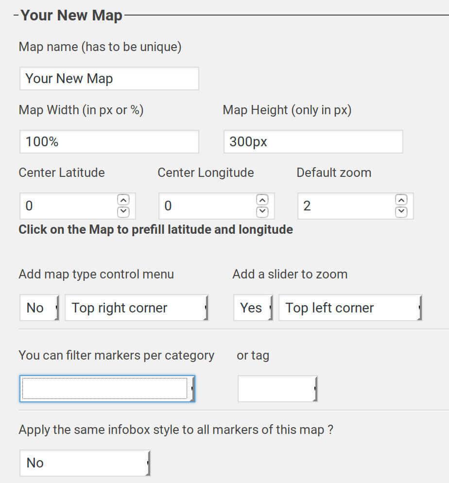 novo-map plugin main menu