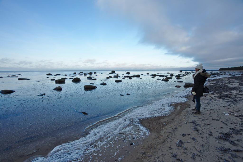plage gelée estonie