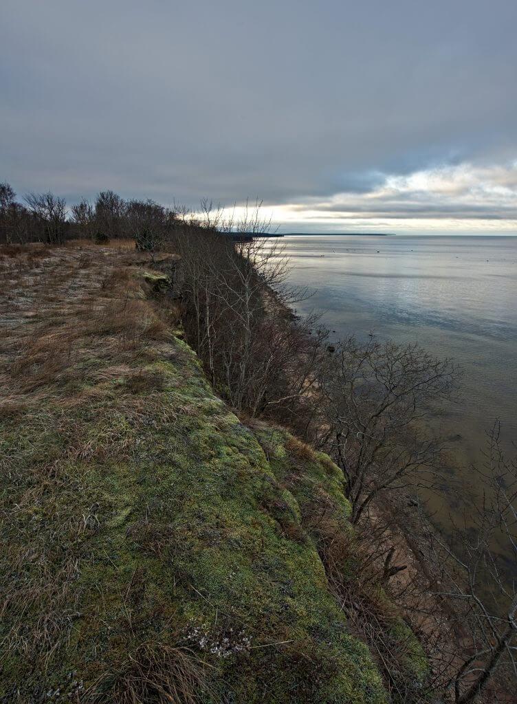 falaise mer baltique