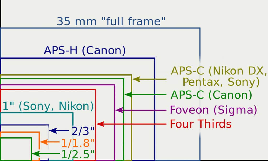 sensor size of digital cameras