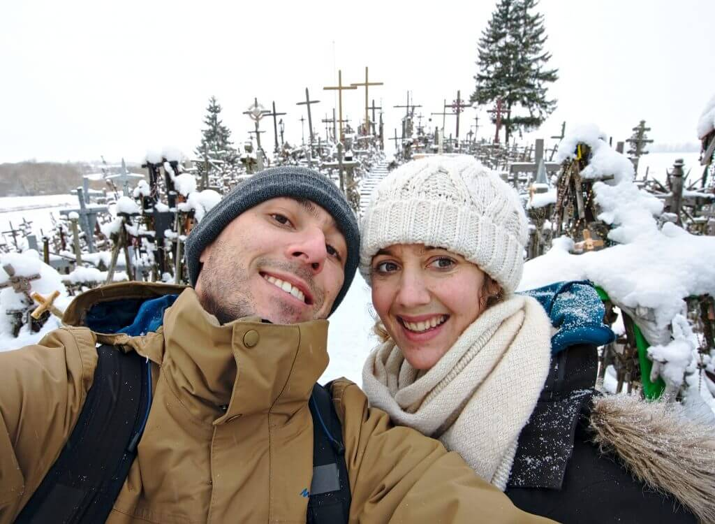 selfie à la colline des croix