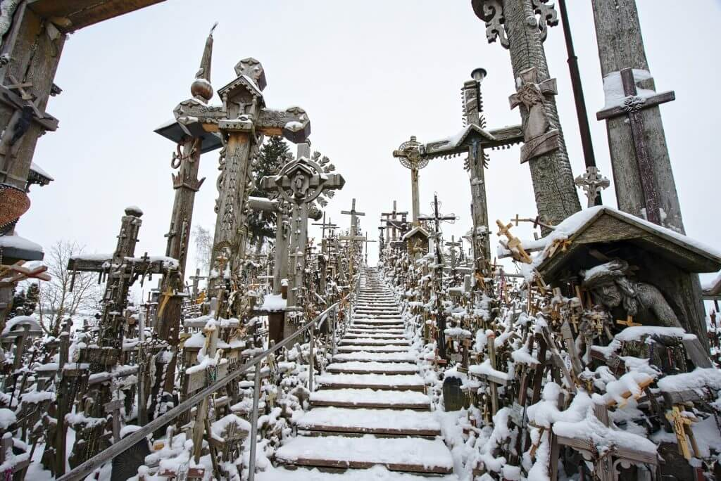 stairs at the hill of crosses