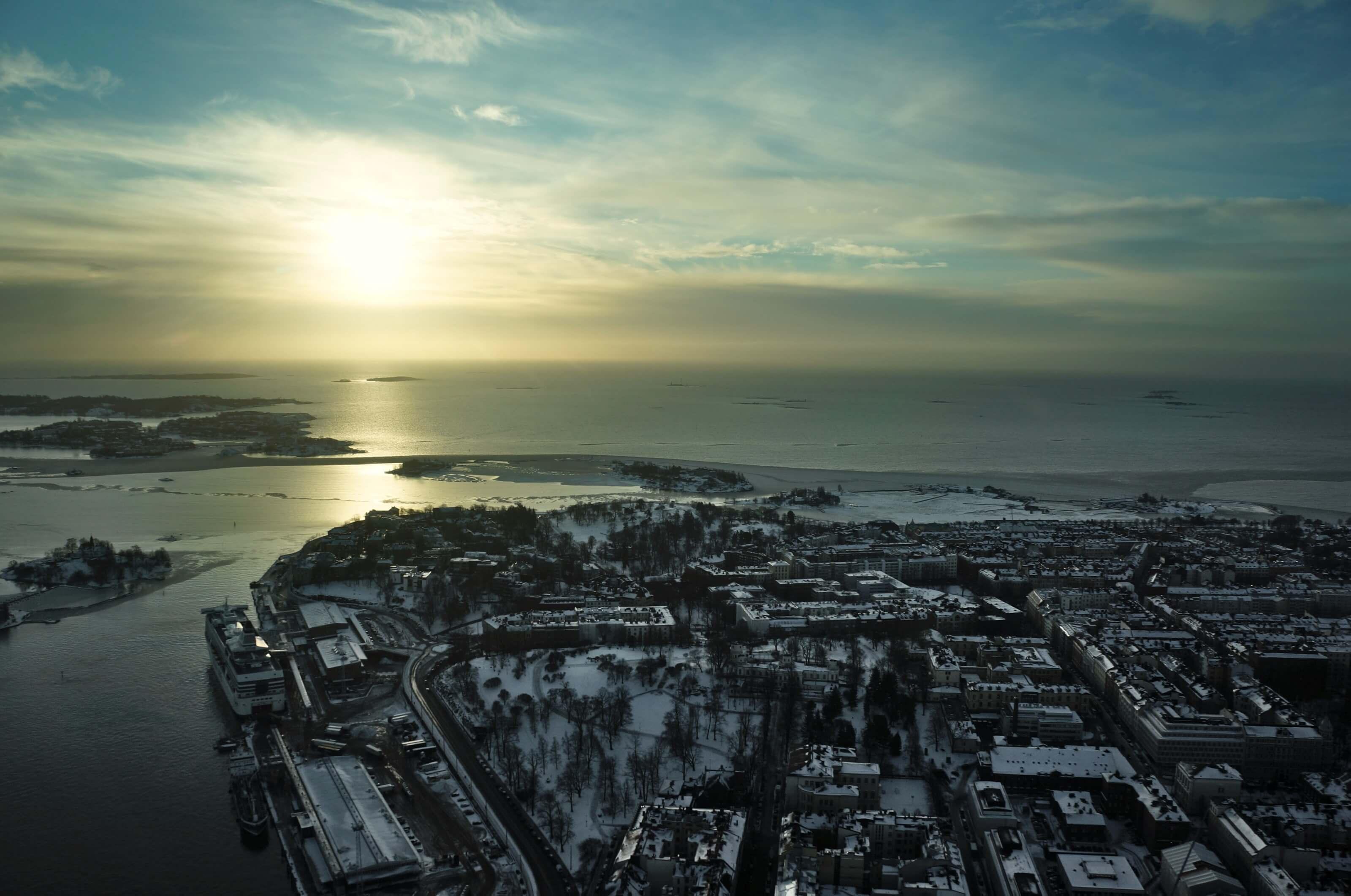 Helsinki lever de soleil
