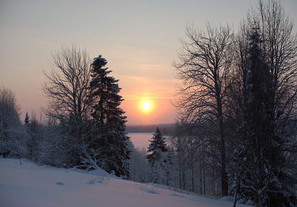 coucher de soleil Laponie