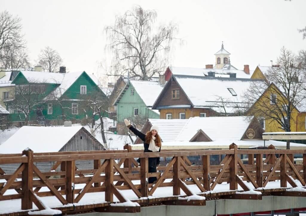 le village à côté du château de trakai