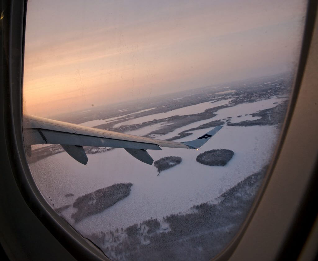 finnair laponie fenêtre