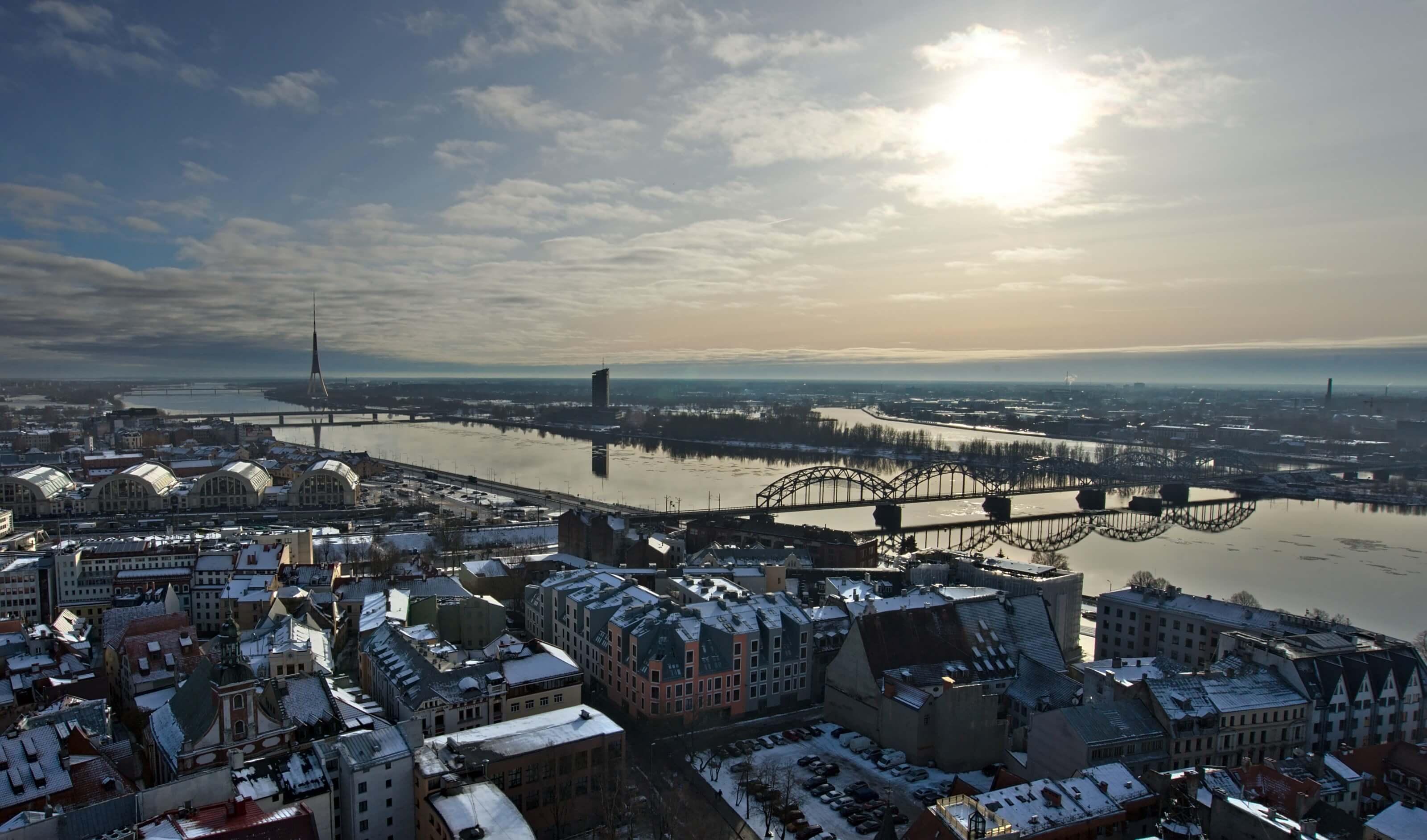 Riga riviere Daugava