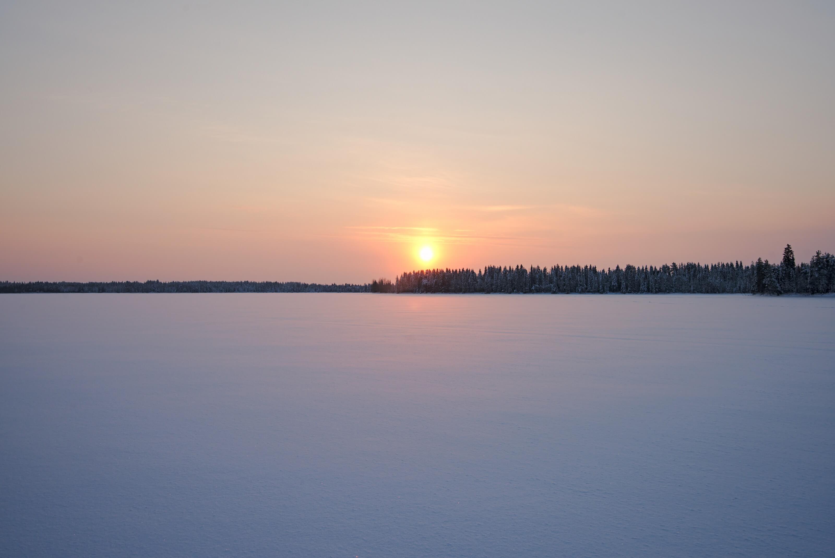 sunset laponie