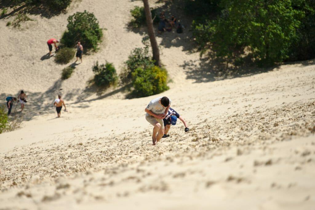 montée sur la dune du pilat