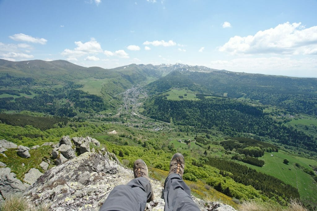 view from puy gros auvergne