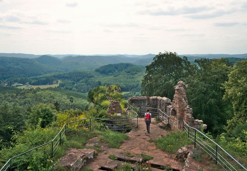 On top of the falkenstein castle