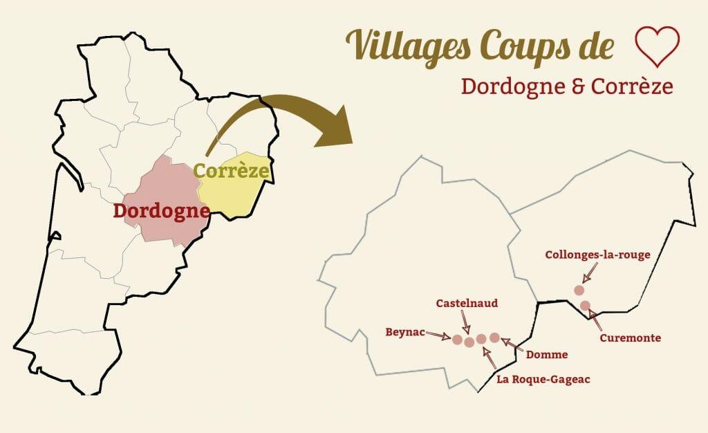 dordogne correze villages