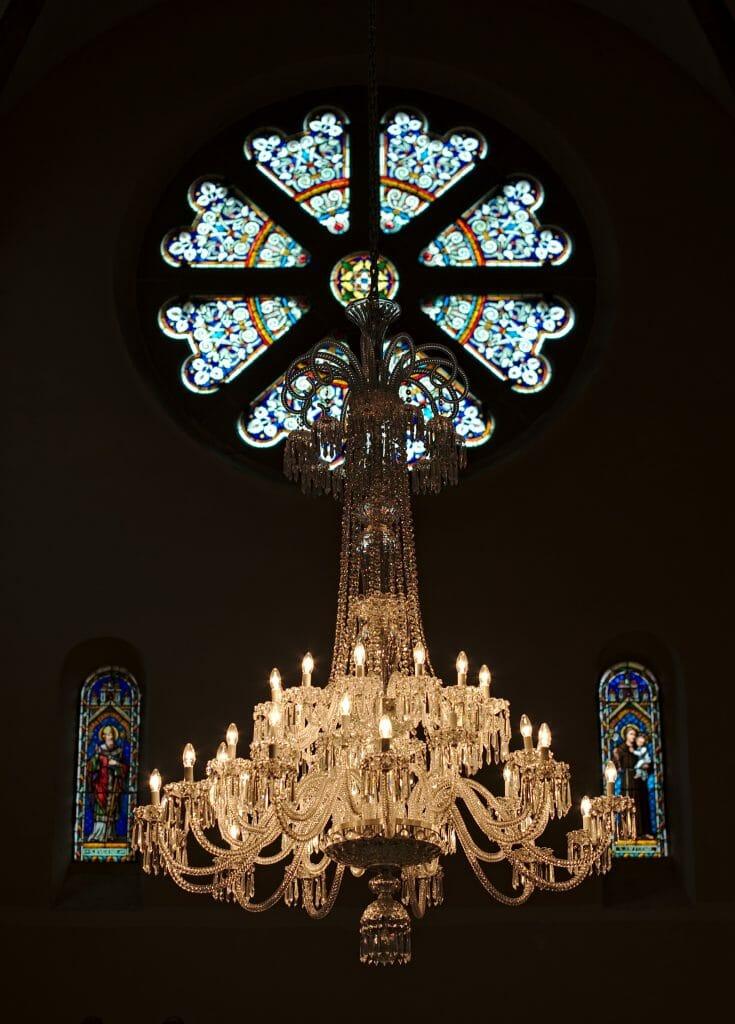 lustre en cristal saint louis