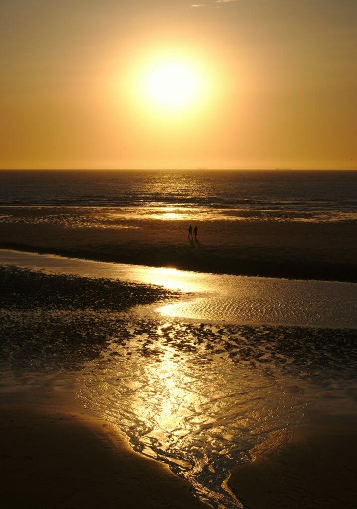 coucher de soleil cote opale
