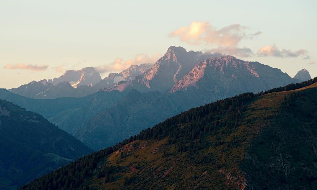 coucher soleil hautes alpes