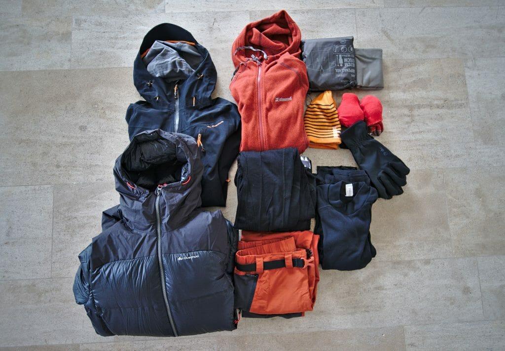 hiking clothes Kungsleden