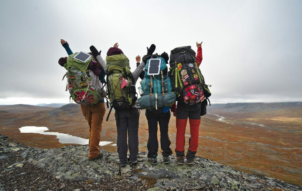 hiking kungsleden with friends