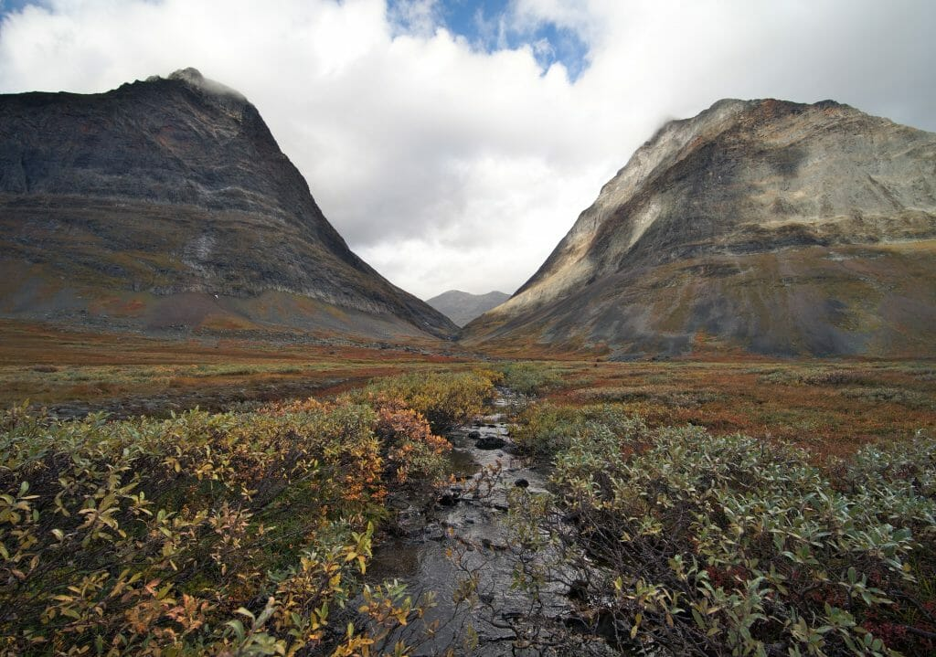 le chemin entre les 2 vallées