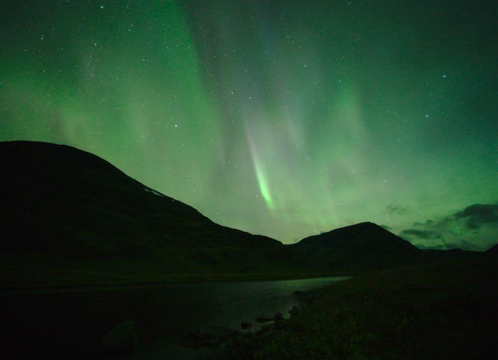 aurore boréales sur le Kungsleden