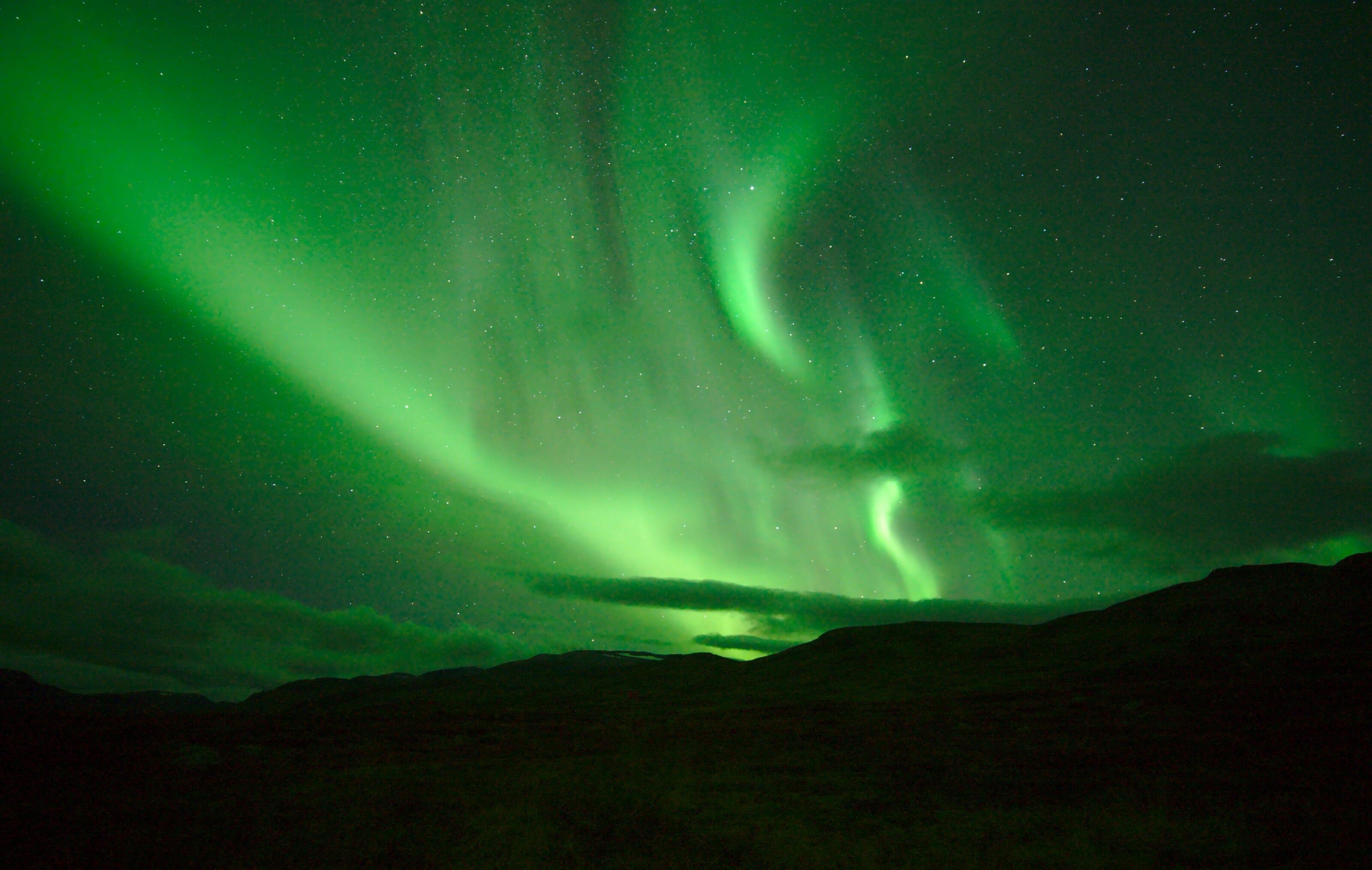 aurores boréales en laponie suédoise