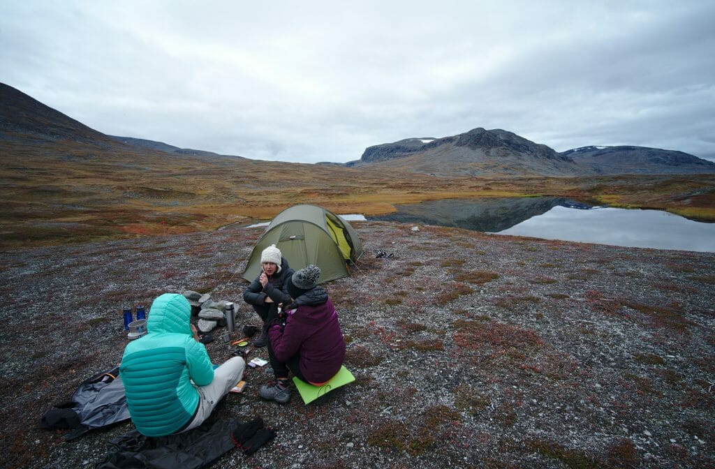 Hiking in swedish lapland