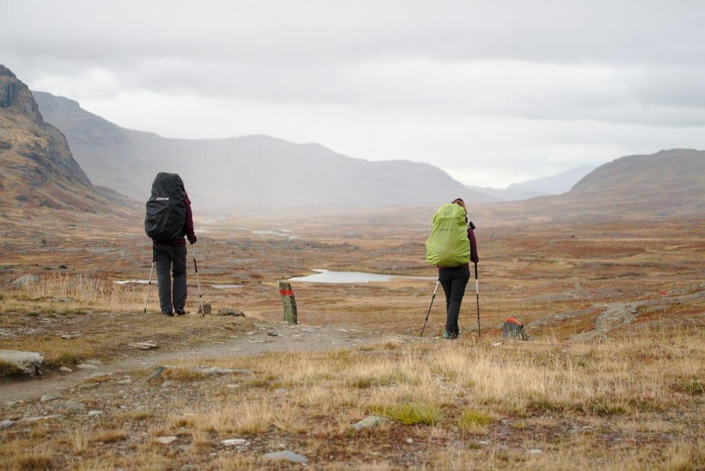 sous la pluie en Laponie