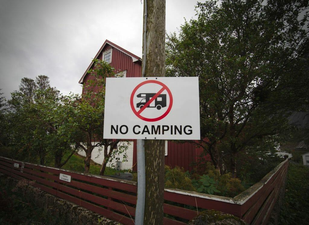 camping interdit