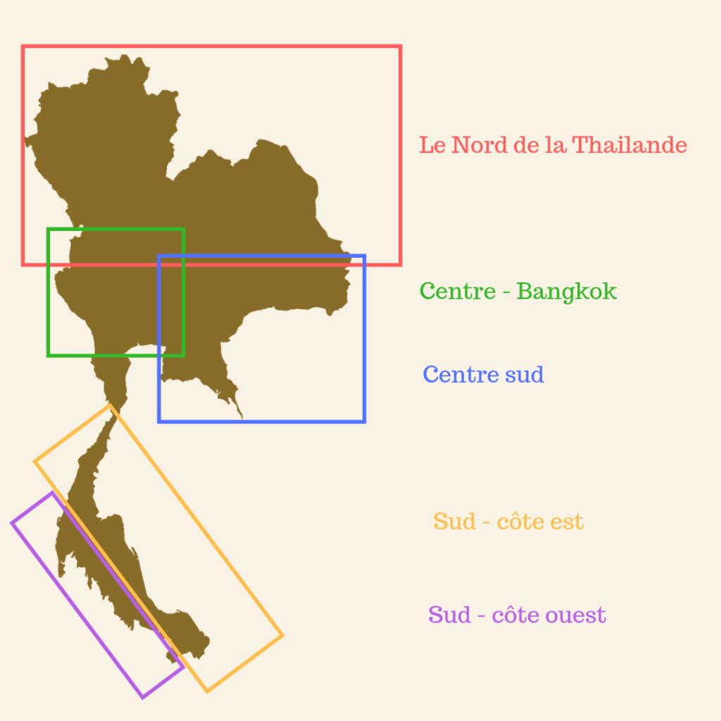 climat thailande -régions