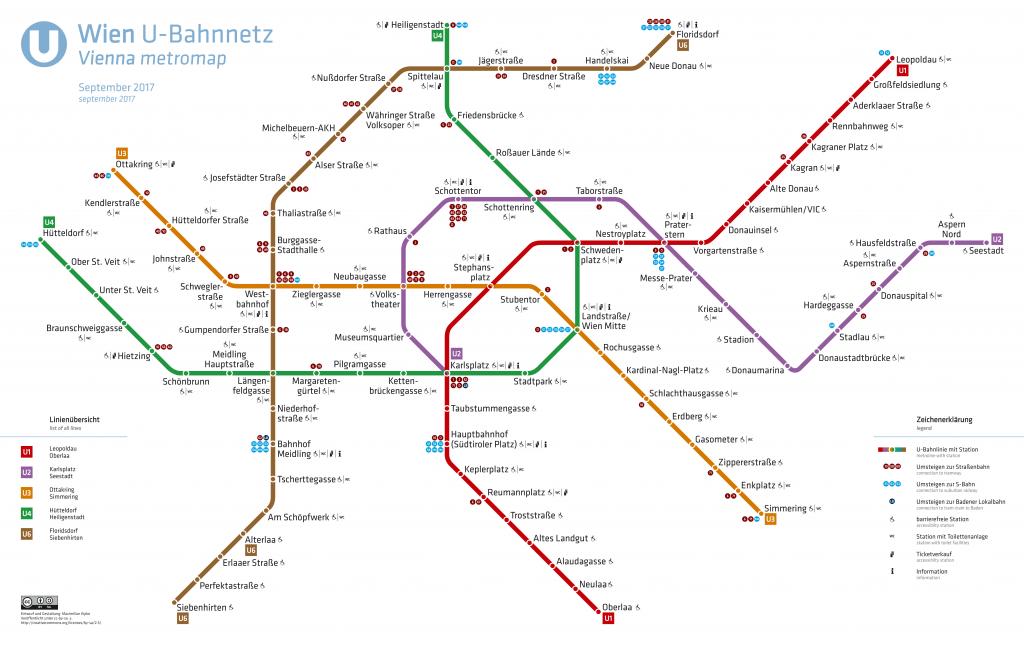 carte métro Vienne