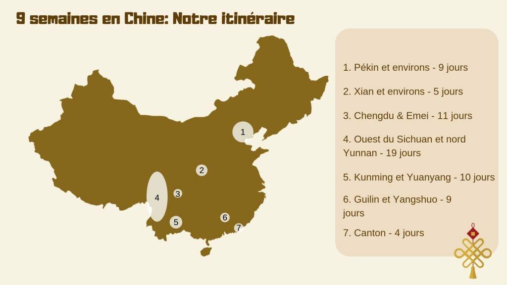 9 semaines en Chine_ Notre itinéraire