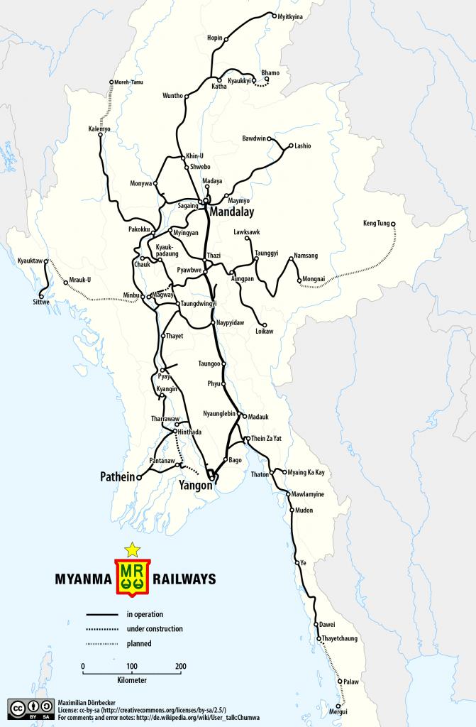 carte train en birmanie
