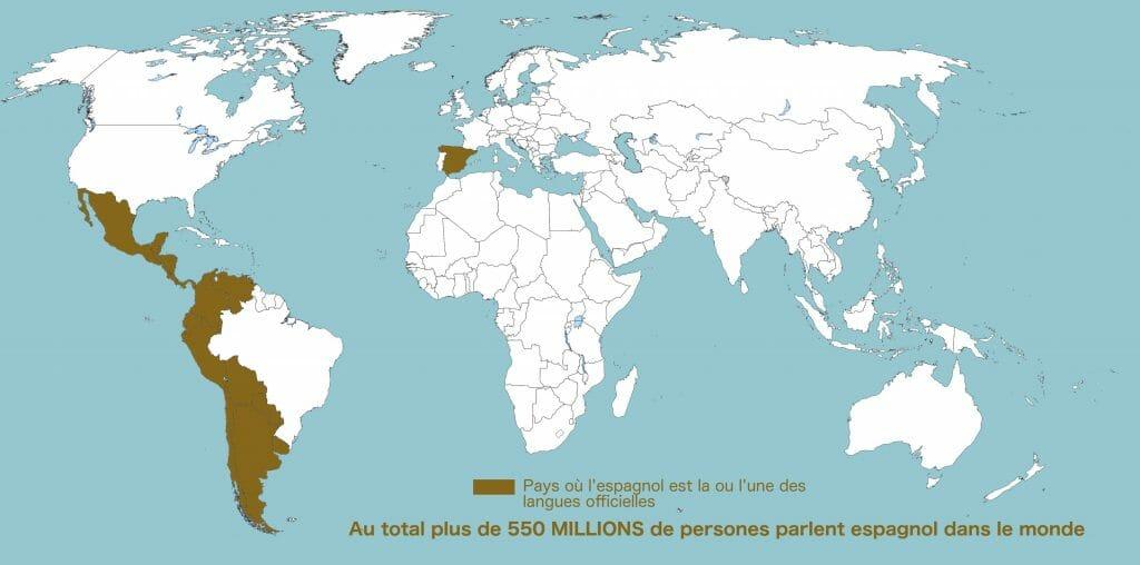 pays hispanophones carte