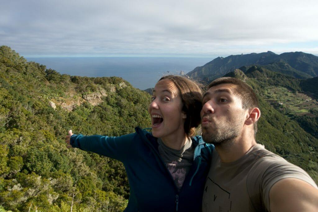 selfie dans l'anaga