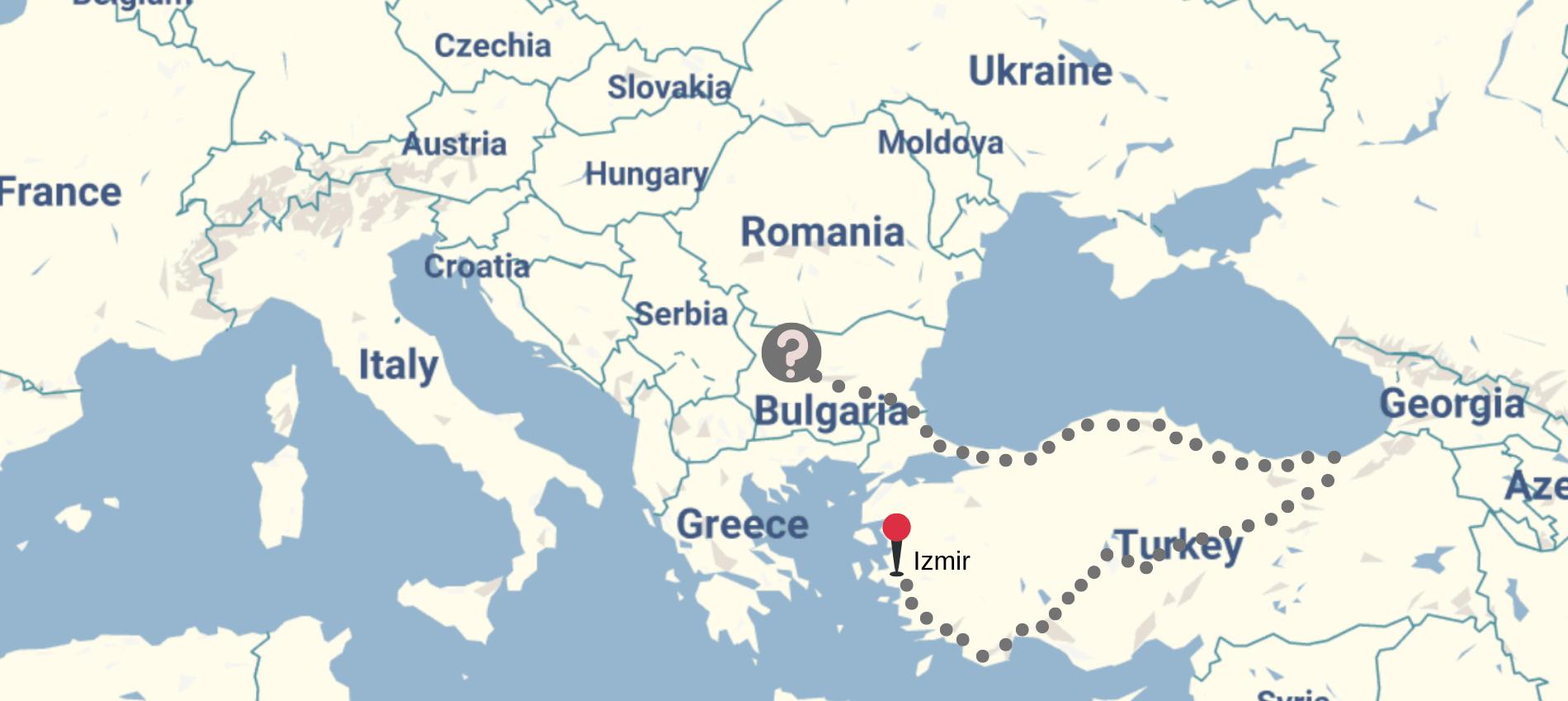 carte turquie et balkans