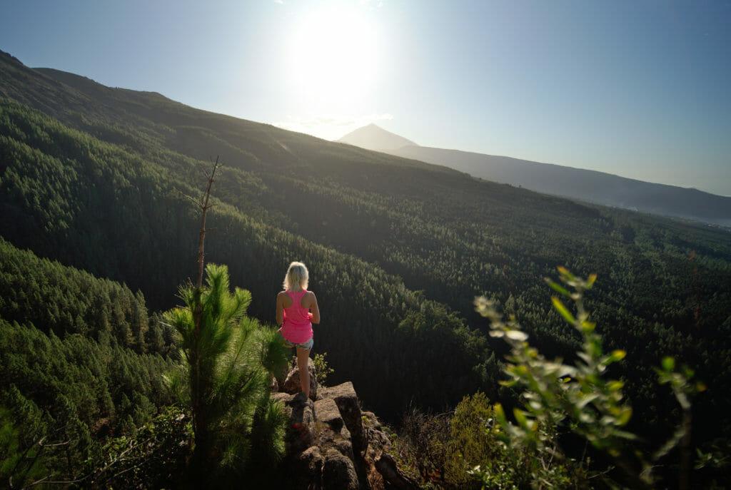vue de dingue sur le Teide à la Caldera