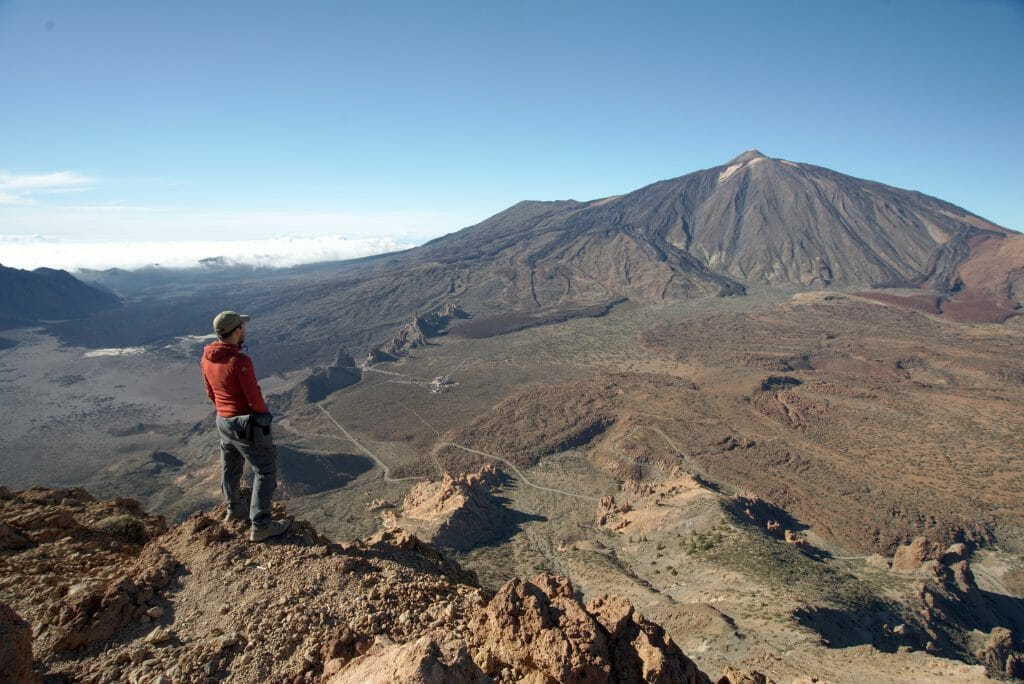 Top of guajara, teide