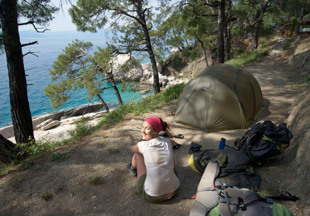 camping aktas beach