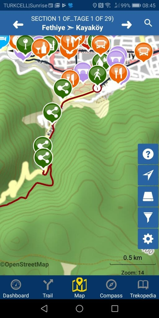 trailsmart menu map